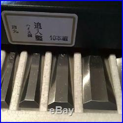 Japanese Carpenter Tool Oire Nomi 10 Chisels Set Sukemaru Professinal Heiss TRK