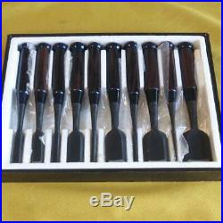 Japanese Carpenter Tool Oire Nomi 10 Wood Chisel Set Sukemaru Ebony Professional
