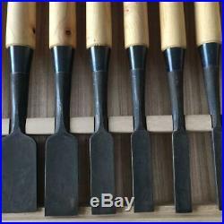 Japanese Carpenter Tool Oire Nomi 10 Wood Chisels Osahiro Horyusai Ichiro Tanaka
