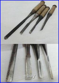 Japanese Carpenter Tool Oire Nomi 13 Wood Chisels Set Vintage Hirosada Toramaru