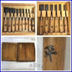 Japanese Carpenter Tool Oire Nomi 15 Wood Chisels Set Vintage Kikusoumon DIY TRK