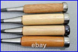 Japanese Carpenter Tool Oire Nomi 4 Wood Chisels Set Ouchi Yukihiro Professional