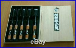 Japanese Carpenter Tool Oire Nomi 5 Wood Chisels Set Yoshihiro Professional TRK