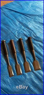 Japanese Carpenter Tool Oire Nomi 8 Chisel Set Yamashironokami Ebony Woodworking