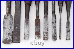 Japanese Carpenter Tool Oire Nomi 8 Wood Chisels Set Vintage Hiromitsu Kiyohiro