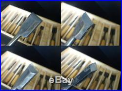 Japanese Carpenter Tool Oire Nomi 9 Wood Chisels Set Kitsune Fox Woodworking TRK