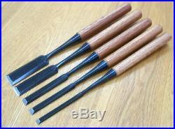 Japanese Carpenter Tool Oire Nomi Wood Chisel Zensho Aokami 24mm Red Oak WithTRK