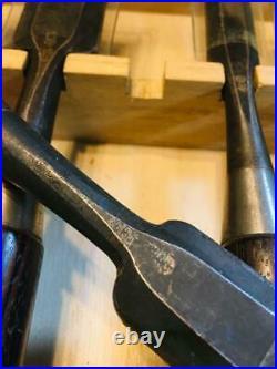 Japanese Chisel Oire Nomi Carpenter Tool 10 pcs set Koshitaka Ebony Woodwork
