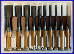 Japanese Chisel Oire Nomi Carpenter Tool Koshitaka Inscription 10-piece set
