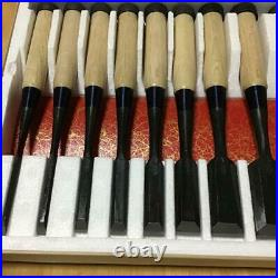 Japanese Chisel Oire Nomi Carpenter Tool Mitsuura 10 pcs set Terukatsu Woodwork