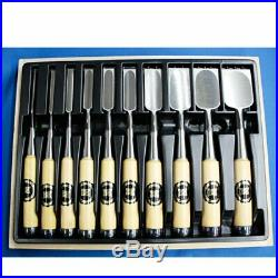 Japanese Chisel Oire Nomi Carpentry Tool SET of 10 Japan