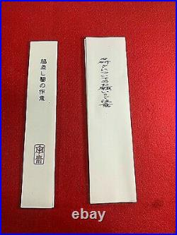 Japanese Chisel oire nomi Wakizasi Akio Tasai 24mm polished with ruler