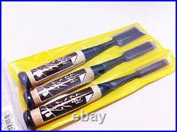Japanese KOUJIRO Chisels NOMI Oire Chisel 3pcs SET Carpenter's Tool 9/15/24mm