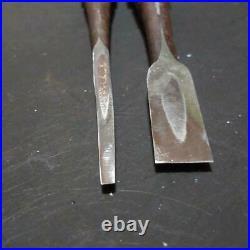 Japanese Nomi Oire Vintage Hand Carpenter Tool 6mm Carpenter 15mm Kitsune Chisel