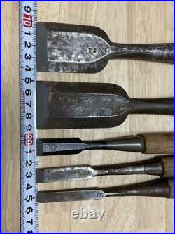 Japanese Nomi Yataro Vintage Ouchi Chisel Morinobu Professional Set Carpenter FS