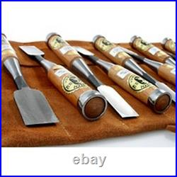 Japanese Oire Nomi Bench Chisels 10pc Set with Leather Tool Roll DT71037
