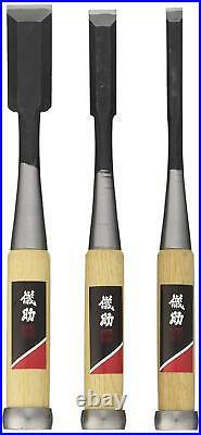 Japanese Takagi Chisels NOMI Oire Chisel 3pcs SET Carpenter's Tool 9/15/24mm