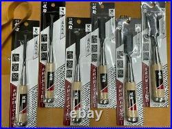 Japanese Takagi Gisuke Oire Nomi Chisel set 6 piece set + chisel roll