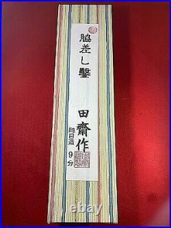 Japanese Wood Chisel oire nomiWakizashi Akio Tasai 27mm 1.06 in hammered mark