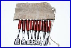 Japanese old craftsman Oire nomi chisels Rosewood handle chisel set (mn205)