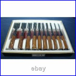Koreshige 10 Pcs Set Oire Japanese Vintage Carpentry Tool Chisel Nomi Box Unused