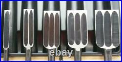 Nomikatsu Japanese Chisel Yasuki Steel 10 Set Carpenter Red Oaks Tool WithTracking