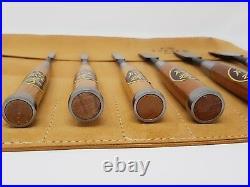 Oire Nomi Japanese Bench Chisel Set Carpenters Chisels 6pc Set 6/9/12/18/24/42mm