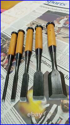 Toyohiro Chisels Boxwood Japanese Carpenter 35mm Oire Nomi Woodworking 6mm WithTRK