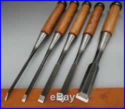 Used Japanese Chisel Nomi Professional Oire Nomi set Carpentry Tool Blade F/S005