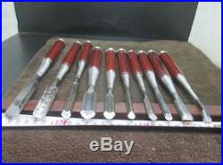Used Japanese Chisel Nomi Professional Oire Nomi set Carpentry Tool Blade F/S011