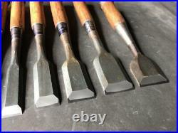 Vintage Tool Japanese Oire Nomi Lot of 10 Chisels Hand Nakayama DIY Carpenter FS