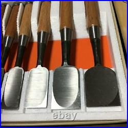 Woodworking Japanese Traditional Oire Nomi Lot of 10 DIY Chisels Carpenter Tool
