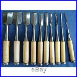 Yoshihiro 10 Pcs Set Oire Japanese Vintage Carpentry Tool Chisel Nomi Unused