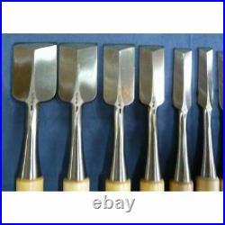 Yoshihiro 10 Pcs Set Oire Japanese Vintage Carpentry Tool Chisel Nomi Unused JPN